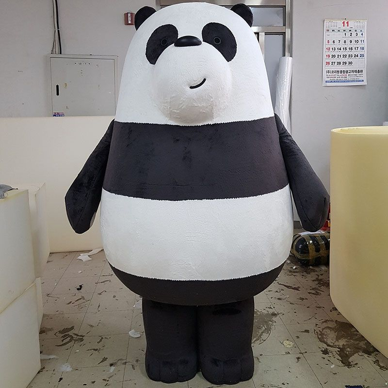 We Bare Bears Panda Grizzly Ice Bear Mascot Costumes