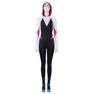 Spider Woman Gwen Stacy Spider-Man: Into the Spider-Verse Cosplay Costumes