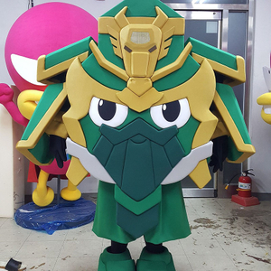 Foam Plastic Adult Robot Mascot Costume with Cool Fan