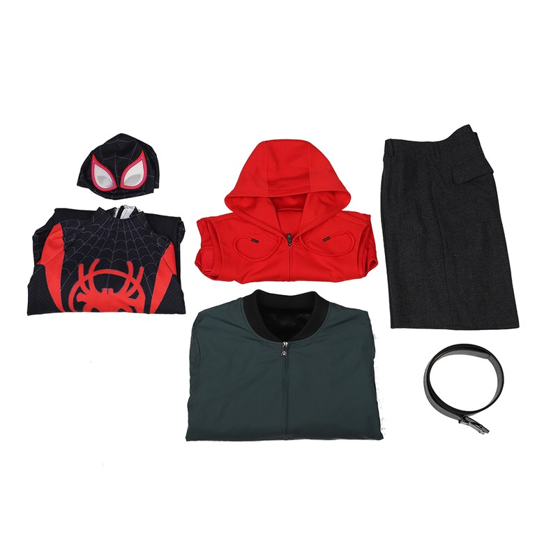 Miles Morals Spider-Man: Into the Spider-Verse Marvel Cosplay Costumes